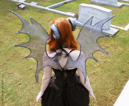 Starry Night Bat Wings & Aeries Horns
